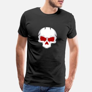 Purple Skull white skull with red eye - Men's Premium T-Shirt