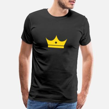 Crown-jokes King, Crown, Royal, Queen, Prince, Princess, GOLD - Men's Premium T-Shirt