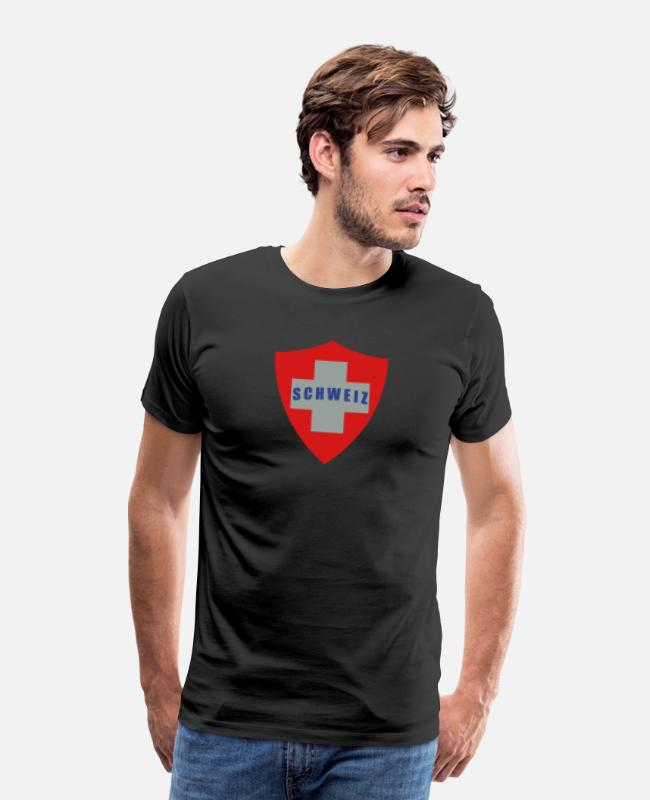 Schweiz T-Shirts - Switzerland, cairaart.com - Men's Premium T-Shirt black