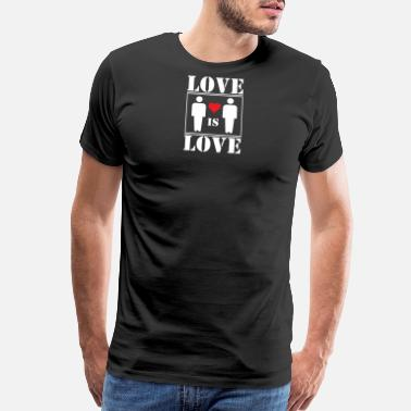 Love Is Love Pride Love is Love gay pride - Men's Premium T-Shirt