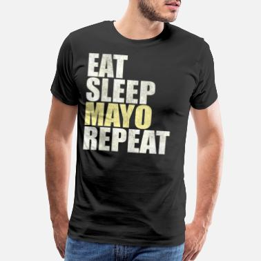 Ketchup Lover Eat Sleep Mayo Repeat Mayonnaise Lover Fries Gift - Men's Premium T-Shirt