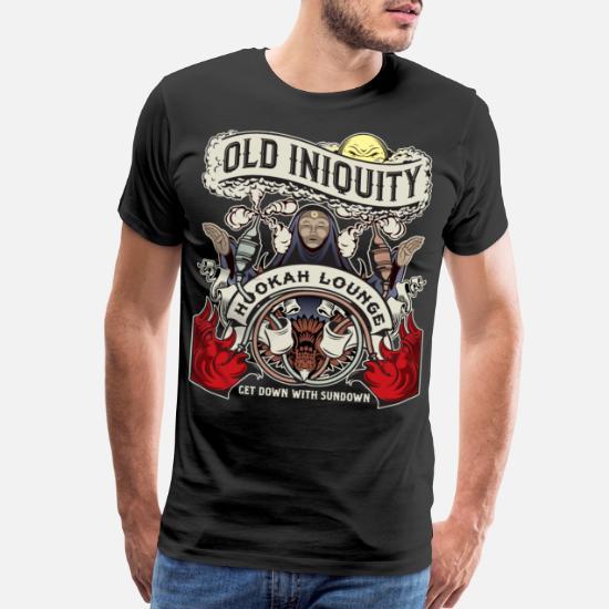 Old Iniquity Hookah Men's Premium T-Shirt - black