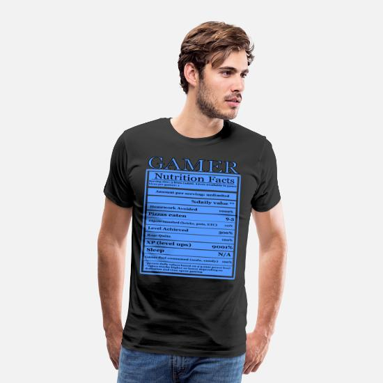 1a2d19088 Game T-Shirts - Gamer nutrition facts, funny, sarcastic, - Men's Premium