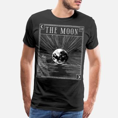 Wicca Moon Tarot Card XVIII Occult Witchcraft Gothic - Men's Premium T-Shirt