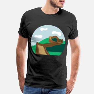 Chinese Crested Great Wall of China - Men's Premium T-Shirt