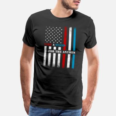 Support Our Troops Take A Stand Anthem - Men's Premium T-Shirt