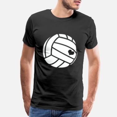 I Love Volleyball I love volleyball - handball / heart / gift - Men's Premium T-Shirt