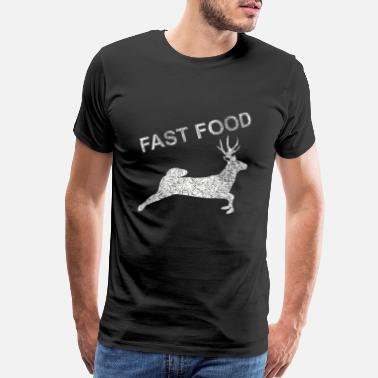 Roe Deer Fast Food Deer, Deer, Game, Hunter, Hunting, Gift - Men's Premium T-Shirt