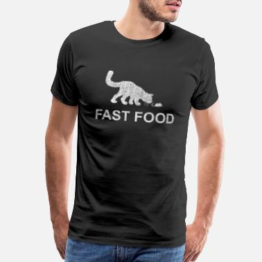 Cat Mouse Funny Fast Food Cat and Mouse - Rat, Kitten, Hangover - Men's Premium T-Shirt