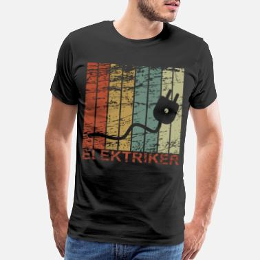 Mens Electrician - Retro, Electricity, Electronics, Gif - Men's Premium T-Shirt