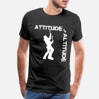 Not A Tourist Attitude for altitude - Climbing, Bouldering, Moun - Men's Premium T-Shirt