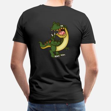 Dinosaurus Mad T-Rex - Primal Animal - Men's Premium T-Shirt