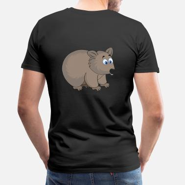 Little Creatures Cute Sweet Wombat Creature - Men's Premium T-Shirt