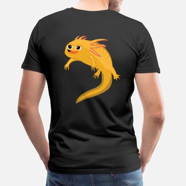 Frog Hovered Happy Axolotl Salamander - Men's Premium T-Shirt