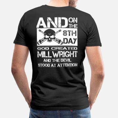 Millwright T-Shirt Skull and Wrenches American Flag Funny Vintage Gift For Men