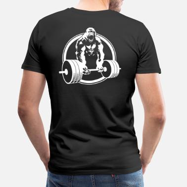 Weightlifting Gorilla Lifting Fitness - Men's Premium T-Shirt