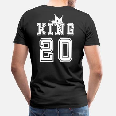 Match Day Valentine's Day Matching Couples King Jersey - Men's Premium T-Shirt