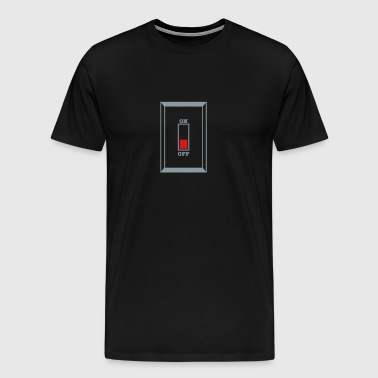On off SWITCH turned OFF - Men's Premium T-Shirt