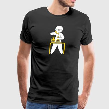 A Scientist Holding A Test Tube - Men's Premium T-Shirt
