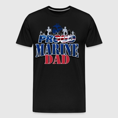 Proud Marine Dad - Men's Premium T-Shirt