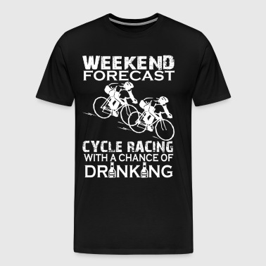 WEEKEND FORECAST CYCLE RACING - Men's Premium T-Shirt