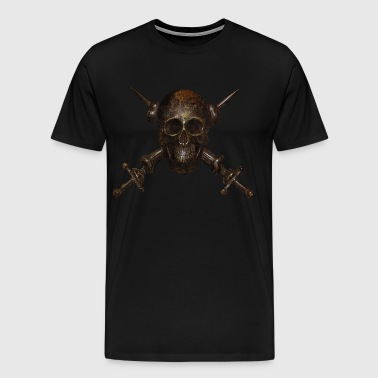 Fascist Skull w\ Swords - Men's Premium T-Shirt
