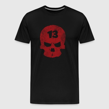 Lucky 13 Skull - Men's Premium T-Shirt
