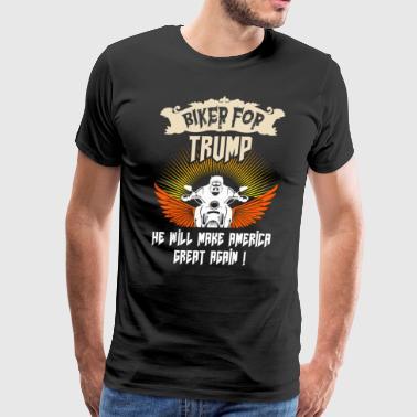 Shop bikers for trump t shirts online spreadshirt for Donald trump tattoo shirt