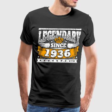 Legend Birthday: Legendary since 1936 birth year - Men's Premium T-Shirt
