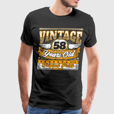 Funny 58th Birthday Shirt: Vintage 58 Years Old - Men's Premium T-Shirt