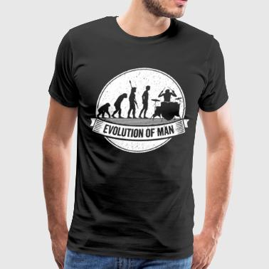 Funny Drumming Graphic Drummer Evolution Drums Tee - Men's Premium T-Shirt