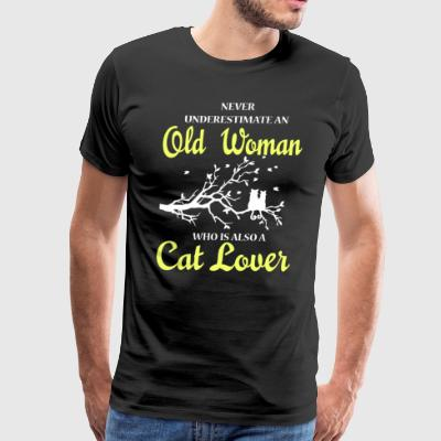 Old Woman Who Is Also A Cat Lover T Shirt - Men's Premium T-Shirt