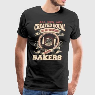 The Luckiest Men Become Bakers Dads - Men's Premium T-Shirt
