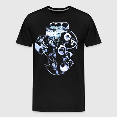 Blue Big Block - Men's Premium T-Shirt