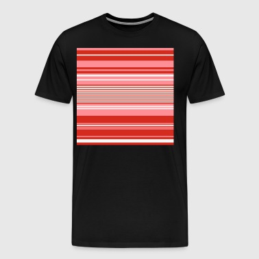 Red, white and Pink Stripes - Men's Premium T-Shirt