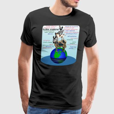 Drowning earth global warming sea level rise - Men's Premium T-Shirt