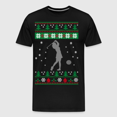GOLF UGLY CHRISTMAS SWEATER - Men's Premium T-Shirt