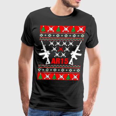 AR 15 Ugly Christmas AR15 Sweater - Men's Premium T-Shirt