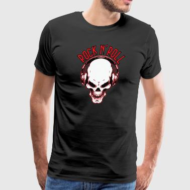 Rock n´Roll Skull - Men's Premium T-Shirt