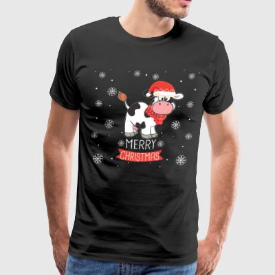 Best Christmas Day Ever With My Cow, Best Shirts - Men's Premium T-Shirt