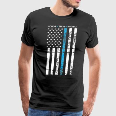 THIN BLUE LINE FLAG POLICE LIVES MATTER - Men's Premium T-Shirt