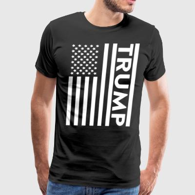 Trump American Flag Patriotic USA - Men's Premium T-Shirt
