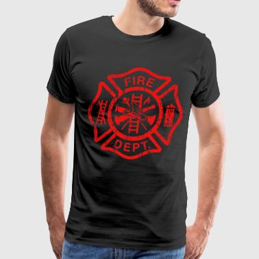 Firefighter Stringer Bodybuilding Muscle USA - Men's Premium T-Shirt