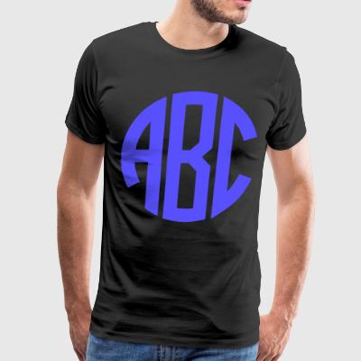 Monogrammed Big Print - Men's Premium T-Shirt