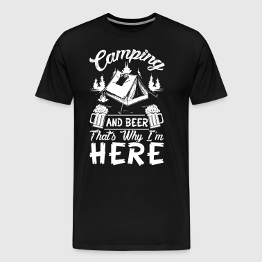 Beer and camping funny t shirt - Men's Premium T-Shirt