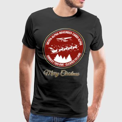 Santa Air Controller Pilot Christmas Aviation Gift - Men's Premium T-Shirt