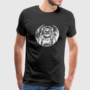 Dog Astronaut Bulldog Frenchie Bully Outer Space - Men's Premium T-Shirt