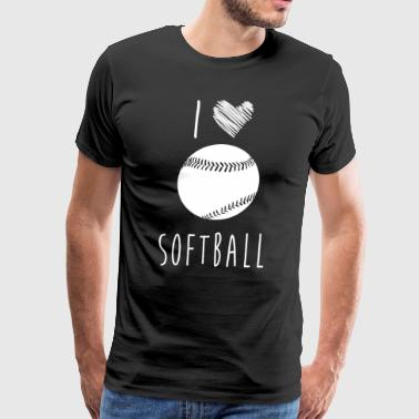 I Love Softball, Best Shirts For Softball Lover - Men's Premium T-Shirt