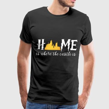 Home is where the castle is disney - Men's Premium T-Shirt