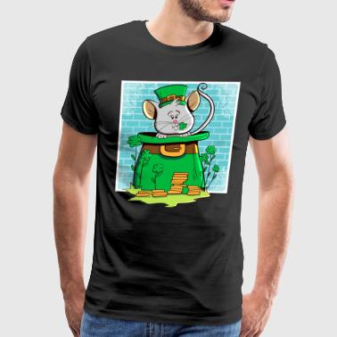 mouse Mousie St Patrick's Day Gift Cartoon - Men's Premium T-Shirt
